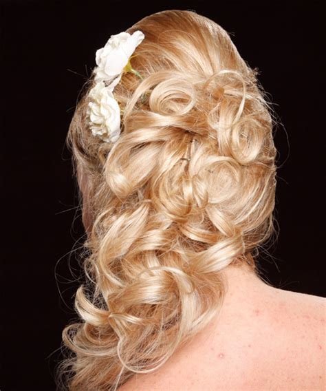 homecoming hairstyles with flowers half up half down hairstyles for homecoming party with