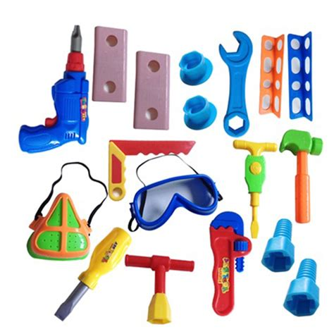 children s woodworking tools aliexpress buy 18 pcs set educational baby plastic