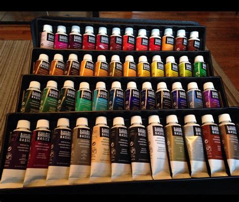 set paint basics liquitex acrylic 48 painting color mixing pro ebay