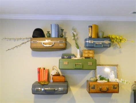 How To Make A Suitcase Shelf by Vintage Suitcase Shelves Suitcase Shelf Small Display