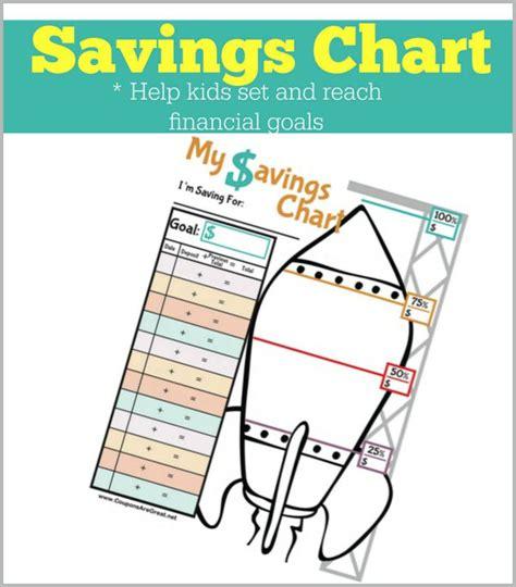items similar to saving money printable chart log for printable savings chart for help set and reach