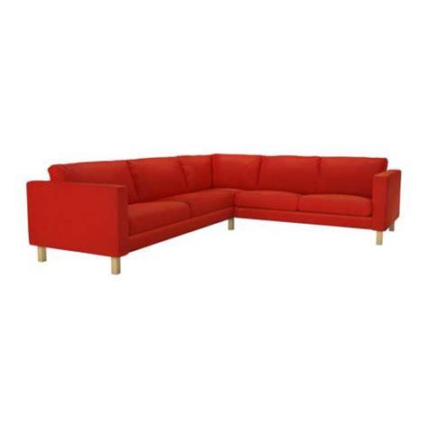 Ikea Karlstad Corner Sofa Slipcover Cover Korndal Red 2 3 Corner Sofa Slipcover