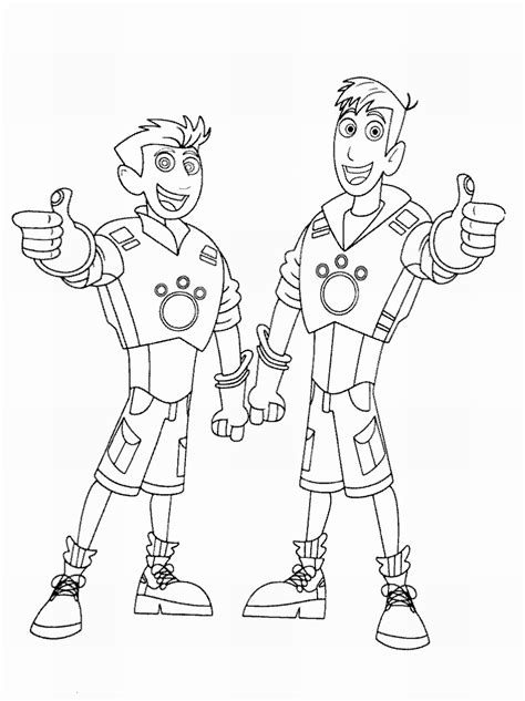 wild kratts free colouring pages