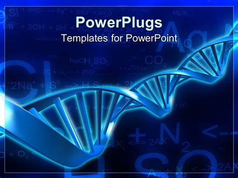 powerpoint templates for biology powerpoint template spiral molecular blue dna strand on