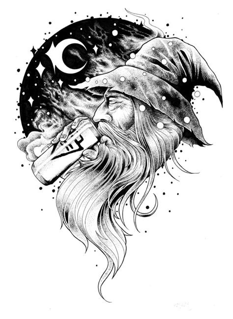 ink wizard tattoos collection of 25 black ink wizard stencil