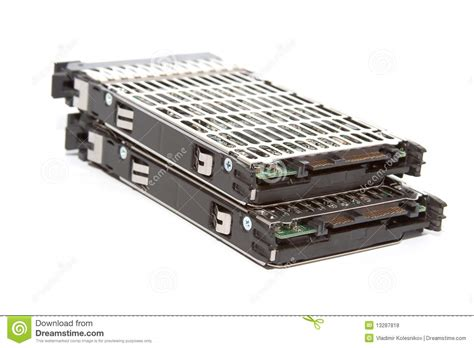 Harddisk Server Two Server Disk Royalty Free Stock Photos Image