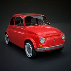 Fiat Vintage Models 3d Fiat 500 Classic Model
