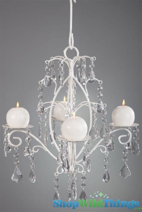 Chandelier With Candles Quot Rachelle Quot White Hanging Candle Chandelier Medium