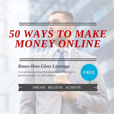 50 Ways To Make Money Online - 50 ways to make money online