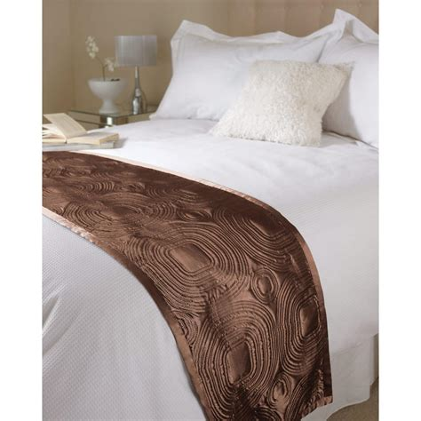 satin throws bedroom quality bedding chocolate embossed satin bed runner throw