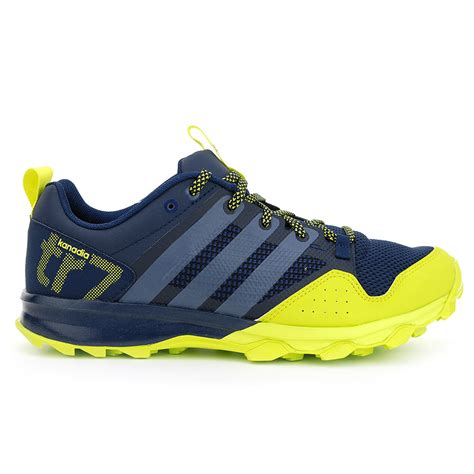 Adidas Kanadia 03 adidas men s kanadia 7 tr navy yellow solar running shoes