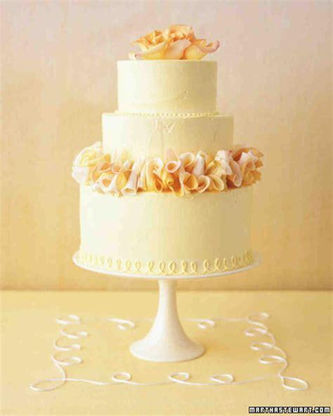 Wedding Cake Yellow by Traditional Wedding Cakes Martha Stewart Weddings