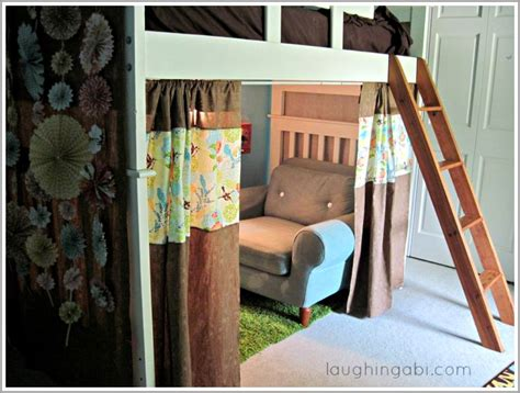 bunk beds with curtains diy loft bed curtains