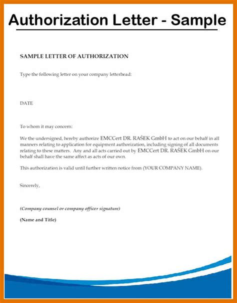 authorization letter manufacturer 9 authorization letter sle tech rehab counseling
