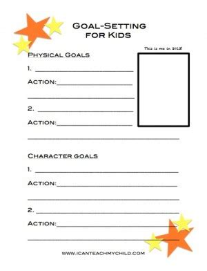 printable goal sheets for students goal setting for kids free printable goal counselling