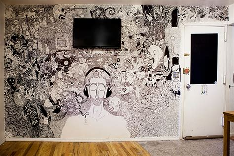 Wall Mural For Bedroom here s a living room mural drawn with sharpies the