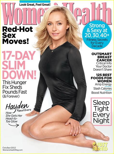 women magazine hayden panettiere women s health october 2012