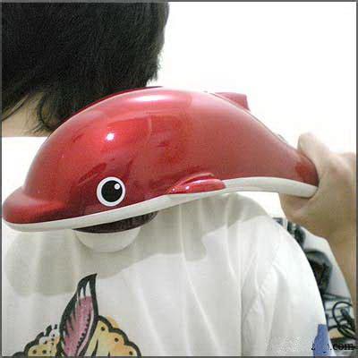 alat pijat punggung elektronik si dolphin dengan infrared
