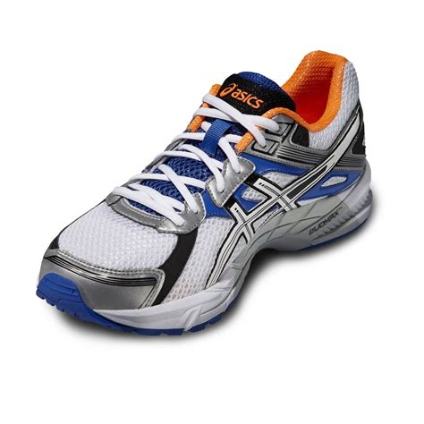 support running shoes mens asics gel trounce mens white orange support road running