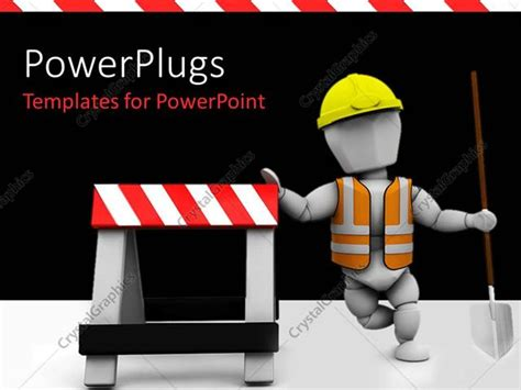 powerpoint template construction worker in safety vest