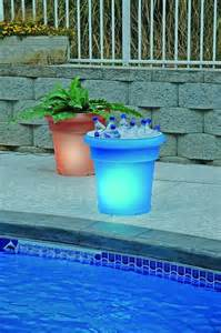 gardenglo solar lighted planters outdoor pots and