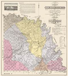 county map san saba land 1876 23 x