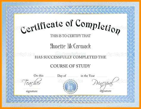 Template Anger Management Certificate Template Anger Management Certificate Of Completion Template