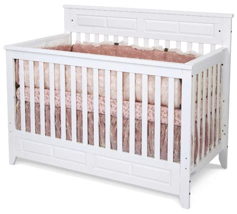 Sears Cribs For Babies Child Craft F3470146 Logan Lifetime Convertible Crib Matte White Sears