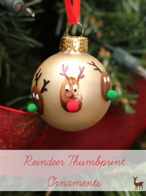 what size ornament is needed to make a handprint snowman ornament reindeer thumbprint ornaments vs the boys