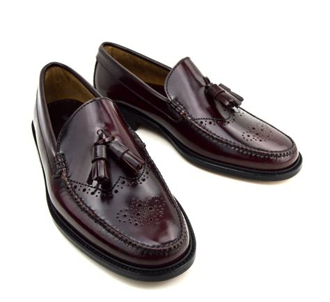 brogue loafers tassel loafer brogues in oxblood the lord brogue mod shoes