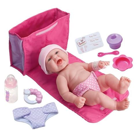 Baby Doll 1 Set jc toys la newborn 13 quot all vinyl baby doll with bag gift set target