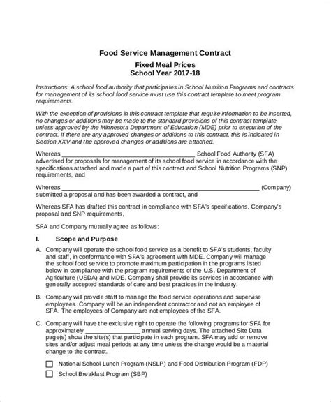 management services agreement template sample form biztree com