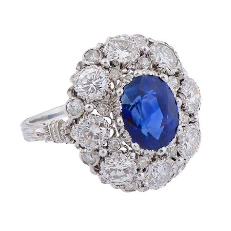 a sapphire and cluster ring by buccellati