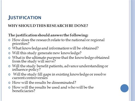 proposal justification format how to write a research proposal ppt video online download