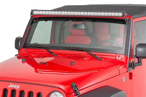 Quadratec 2 Bolt Led Light Bar Windshield Pillar Mounting Led Light Bar For Jeep Jk