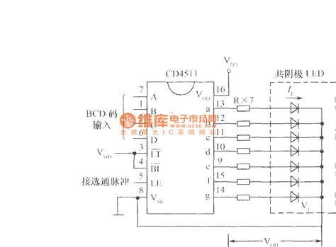 led common cathode circuit the typical wiring of cd4511 drive common cathode led digital led and light circuit
