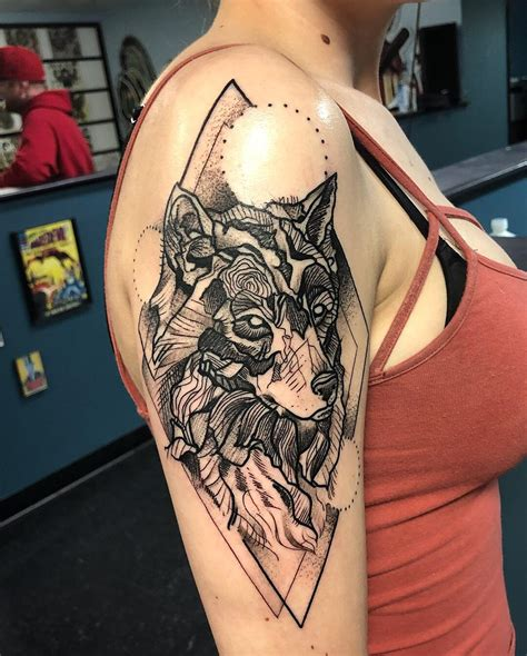 charleston tattoo wolf i did at gorilla in charleston s c