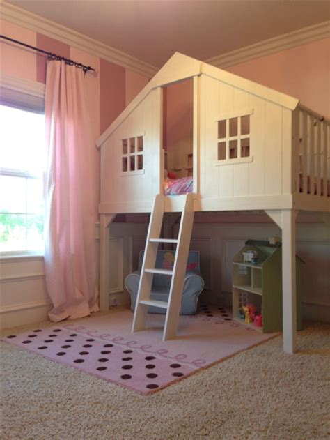 diy girls bed baby girls room loft tree house bed kid style stuff
