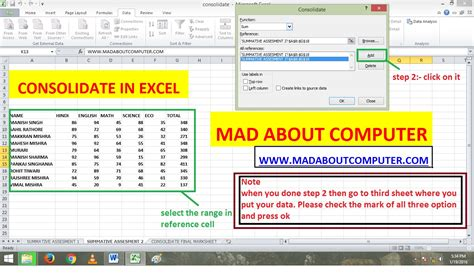 Combine Spreadsheets In Excel by Consolidating Worksheets In Excel 2003 Consolidate In