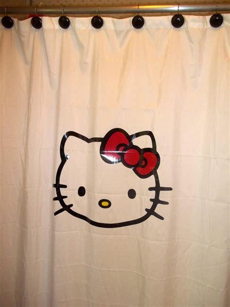 kitty shower curtain 15 best hello kitty bathroom images on pinterest hello