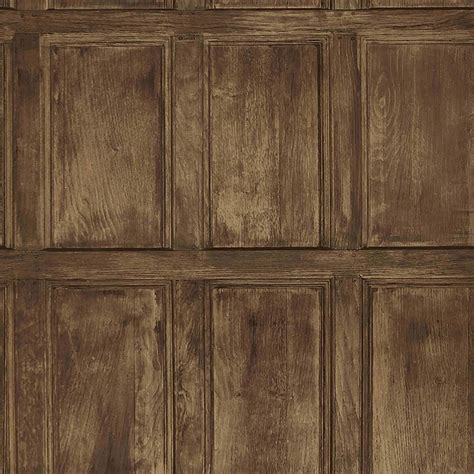 Brown Wainscoting by Brewster Common Room Brown Wainscoting Wallpaper Iwb00845