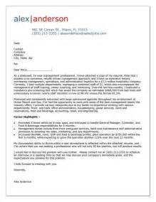Cover Letter For Hospitality Industry by Cover Letter Exle For Hospitality Manager Cover Letter Tips Exles Cover
