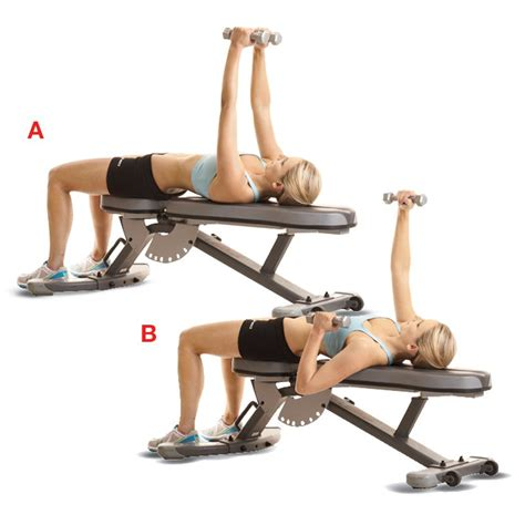 bench press for girls alternative dumbbell bench press women s health