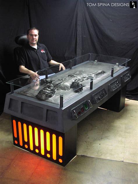 han carbonite desk han frozen in carbonite desk sci fi design
