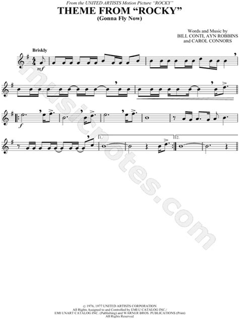 theme music rocky balboa quot theme from rocky quot from rocky sheet music trumpet