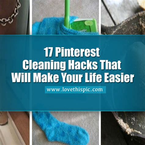 25 cleaning hacks that will make your life easier diy 17 pinterest cleaning hacks that will make your life easier