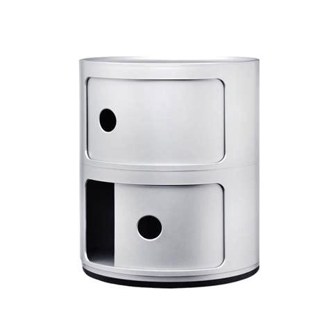kartell mobili kartell mobile contenitore componibili 2 moduli argento