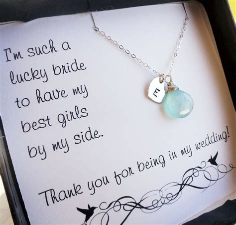 unique personalized bridesmaid jewelry gifts personalized bridesmaid gifts three bridesmaid thank you