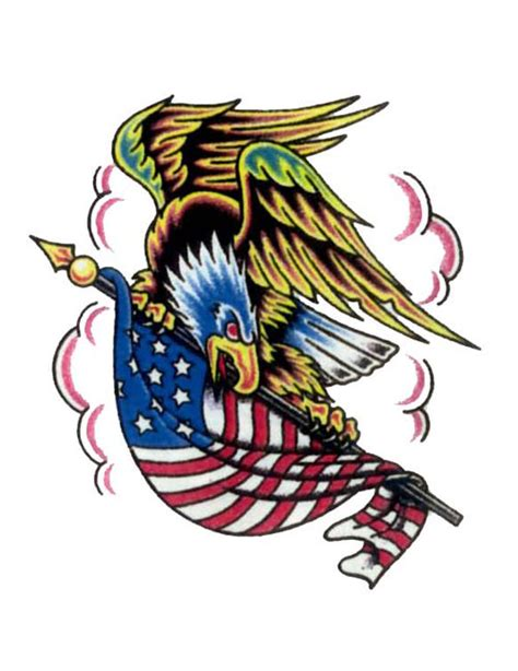 american flag eagle tattoo designs eagle holding american flag free design ideas