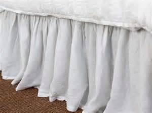 organic linen bed skirt